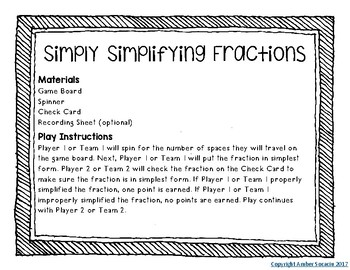 Fractions Math Activities