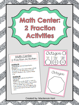 Fractions Math Center: Create a Fraction