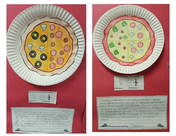 Fractions Math Craft Pizza