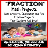Fraction Projects, Math Enrichment for Upper Elementary, Vocabulary Handout