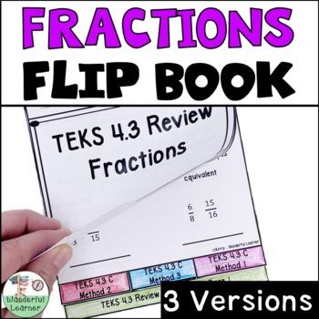 Fractions Math Review Flipbook TEKS 4.3