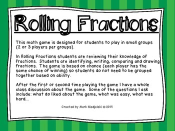 Fractions Math Game