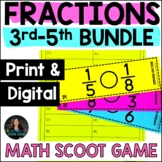 Fractions Math Game Bundle - Add Subtract Multiply Divide