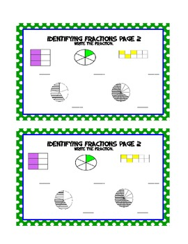 Fractions Math Journal - 3rd/4th Grade. Compare, Order & Identify Fractions