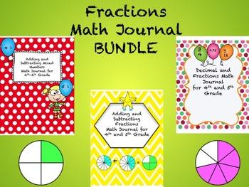 Fractions Math Journal BUNDLE