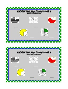 Fractions Math Journal - Compare, Identify, Order, Add and Subtract Fractions