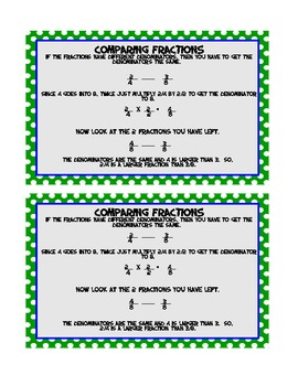 Fractions Math Journal MEGA pack -compare, identify, +, -, x, and ÷