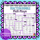 Fractions Math Maze BUNDLE