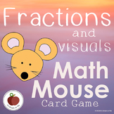 Fraction Games - Math Mouse - Card Game - Math Fluency - Flash Cards - Game