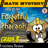 3rd Grade Fractions  Review, Math Mystery Fractions - Models, Comparing + + +