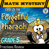 5th Grade Fractions Review - Math Mystery Fractions Distance Learning