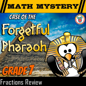 Fractions Math Mystery Activity: Adding, Subtracting, Multiplying, Dividing +