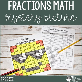 Fractions Math Mystery Picture | FREE