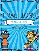 Fractions Math Scoot - 2nd Grade