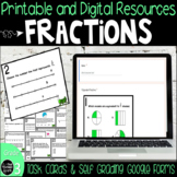 Fractions Math Test Prep Printable and Google Form Resource