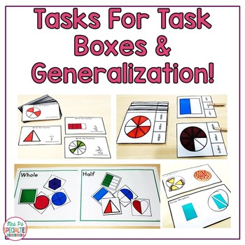 Fractions Math Unit For Special Education  (Leveled and Hands On Math Centers)