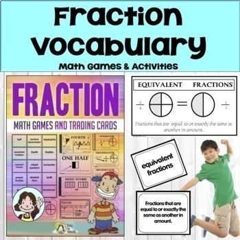 Fractions-Math Vocabulary Trading Cards-Math Games and Lesson Plans