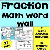 Fractions  Math Vocabulary Cards, Math Games - ESL