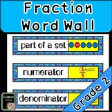 Fractions Math Word Wall (2nd Grade)