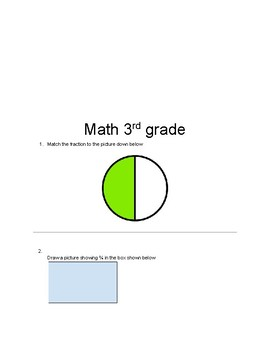 Fractions - Math Worksheet