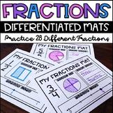 Fraction Mats: Modeling Fractions, Writing Fractions, Frac