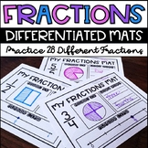 Beginning Fractions Worksheets Leveled / Differentiated / RTI