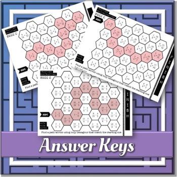 Fractions Maze Match **BUNDLE**