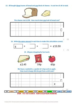 Fractions:  Measure and money problems