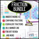 Mega Fractions Bundle - Fraction Unit to Build Understanding - Activities, Games