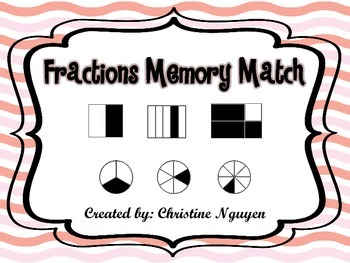 Fractions Memory Match Game