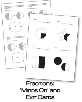 Fractions: Minds On and Exit Cards