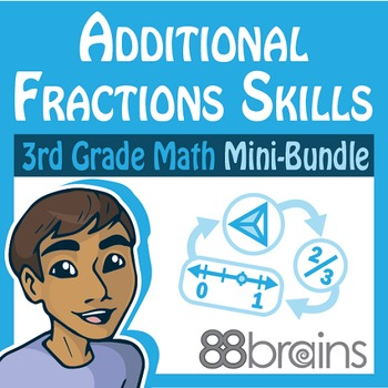 Fractions Mini-Bundle: Additional Fractions Skills (CCSS)