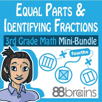 Fractions Mini-Bundle: Equal Parts & Identifying Fractions (CCSS)