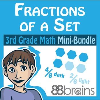 Fractions Mini-Bundle: Fractions of a Set & Estimate Part of a Whole (CCSS)