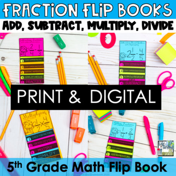 Fractions Mini Flip Book BUNDLE-Add, Subtract, Multiply an