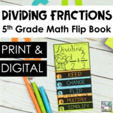 Fractions Mini Flip Book - Dividing Fractions
