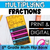 Fractions Mini Flip Book - Multiplying Fractions