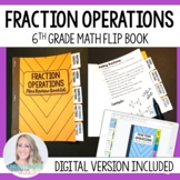 Fractions Mini Tabbed Flip Book for 6th Grade Math
