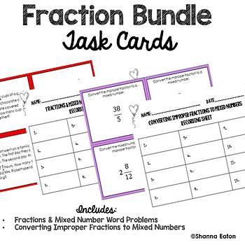 Fraction Bundle Task Cards
