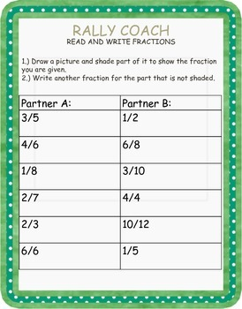 Fractions, Mixed Numbers, and Decimals Packet + Rally Coach