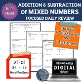 Fractions - Adding and Subtracting Mixed Numbers - Focused Daily Review