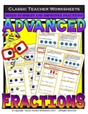 Fractions - Mixed Numbers and Improper Fractions Grades 5-6 (5th-6th Grade)