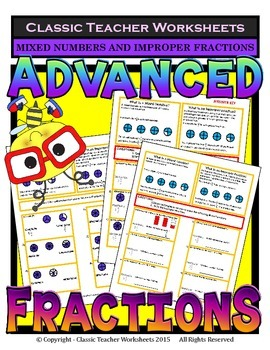 Fractions - Mixed Numbers and Improper Fractions Grades 5-