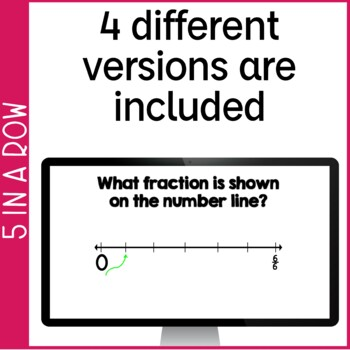 Fractions & Mixed Numbers on a Number Line 5 in a Row: 4 Games & Powerpoints