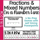 Fractions & Mixed Numbers on a Number Line 4 Games & Power