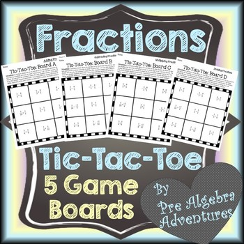 Fractions Operations Activity {Math Tic Tac Toe} {Operations with Fractions}