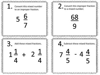 Fractions:  Mixed Review