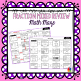 Fractions Mixed Review Math Maze
