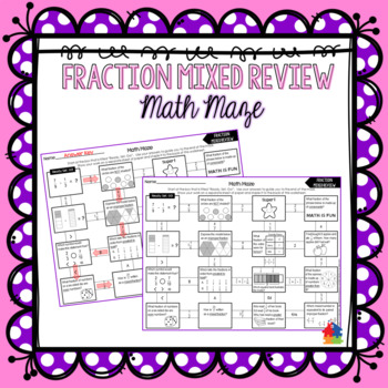 Fractions Mixed Review Math Maze