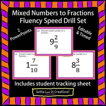 Editable Fractions Fluency Bundle 6 PowerPoints